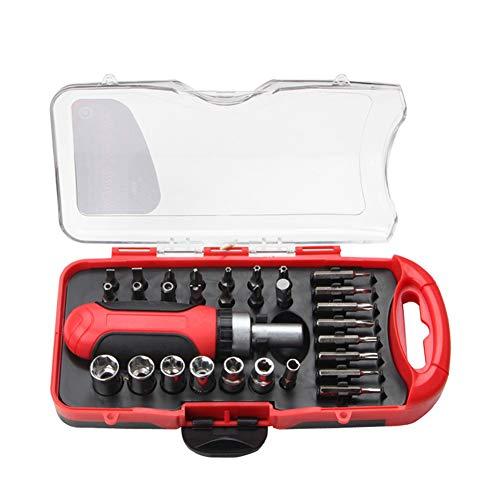 KANUBI Schraubenschlüsselsatz, Steckschlüssel-Ratschenschlüsselsatz, 30-teiliges Autoreparaturwerkzeugset, Schraubendrehersteckdose
