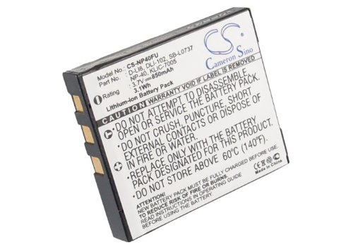 Rechargeable Battery 850mAh For PENTAX Optio S4, Optio T10, Optio S5i, Optio S6, Optio A40