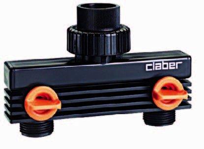 Claber répartiteur 2 voies pour robinet 3/4 \
