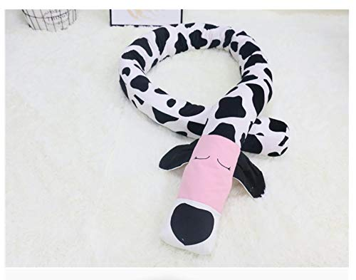 weichuang Parachoques para cama de bebé, color blanco y negro para perro, barandilla de cuna, protector de almohada, barra antigolpes para recién nacidos (color: como se muestra)