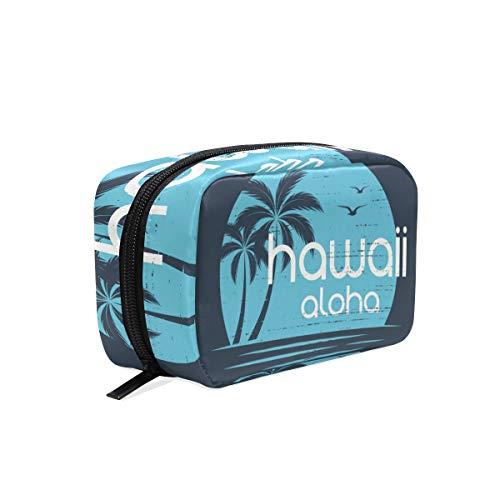 Hawaii Aloha Summer Beach Kokosnussbaum Kosmetiktasche Kulturtasche Kosmetiktasche Reise-Make-up-Tasche Multifunktions-Organizer für Frauen