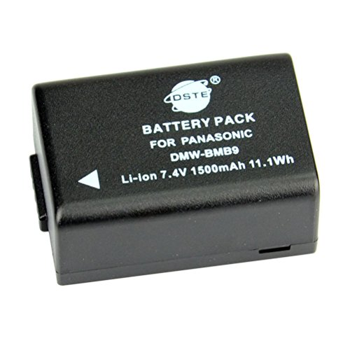 DSTE Ersatz Batterie Akku for Panasonic DMW-BMB9 Lumix DMC-FZ40 DMC-FZ45 DMC-FZ47 DMC-FZ48 DMC-FZ60 DMC-FZ62 DMC-FZ70 DMC-FZ72 DMC-FZ100 DMC-FZ150 V-Lux2 V-Lux3 Kamera