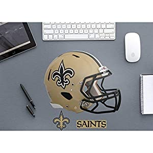 FATHEAD NFL New Orleans Saints - Helmet Teammate- Officially Licensed Removable Wall Decal, Multicolor, Big