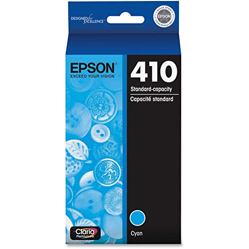 EPSON T410 Claria Premium Ink Standard Capacity Cyan Cartridge (T410220-S) for select Epson Expression Premium Printers