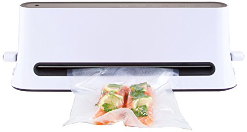 ICO Upright Vacuum Sealer designed for Sous Vide Cooking, Space Saver Vacuum Sealer with vacuum bags included