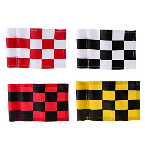 Amuzocity Bandera del Jardín de La Bandera del Golf 4pcs, Banderín del Golf de La Bandera a Cuadros Adentro