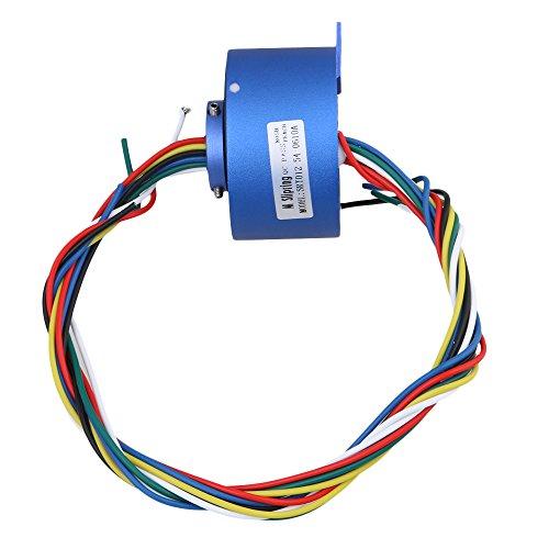 bqlzr 6Kabel 380V 10A 12.7mm Loch Dia Metall blau Kunststoff über loch Capsule Slip Ring für Elektronischer Ausrüstung