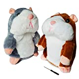 2 Pack Talking Hamster Toy Animal Talking Toys Repeats What You Say Mimicry Pet Talking Record for Boys and Girls