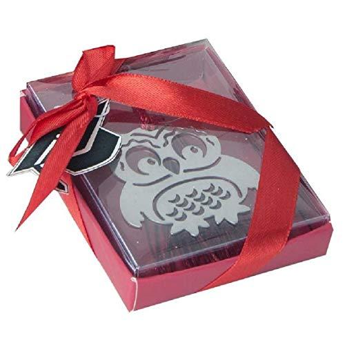 Subito disponibile Segnalibro Laurea a forma di gufo in scatola regalo BOMBONIERA