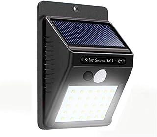 Lampara con sensor de movimiento 30 leds para exteriores (Permanece con luz tenue hasta que detecta movimiento enciende al...