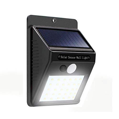 Lampara con sensor de movimiento 30 leds para exteriores (Permanece con luz tenue hasta que detecta movimiento enciende al 100%)