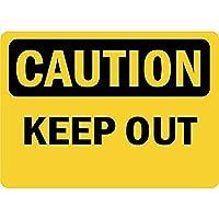 Caution Keep Out 金属板ブリキ看板警告サイン注意サイン表示パネル情報サイン金属安全サイン