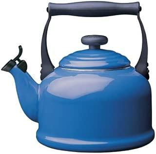 Le Creuset 2.1 L. Enamel on Steel Classic Whistling Teakettle - Harm. Blue 2.2 Qt