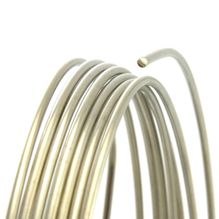 24 Gauge Round Half Hard Nickel Silver Wire - 5FT