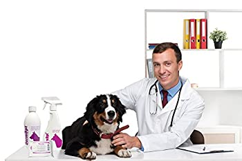 DermOpt® Shampooing 6 en 1 pour chien contre les démangeaisons / après-shampoing / hydratant pour démêler le pelage et éliminer les germes malodorantes / apaiser les peaux sensibles, les démangeaisons et les allergies SLS, paraben et sans odeur
