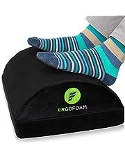 Reposapiés ergonómico ErgoFoam para debajo del escritorio | Reposapiés de espuma suave de terciopelo premium para escritorio