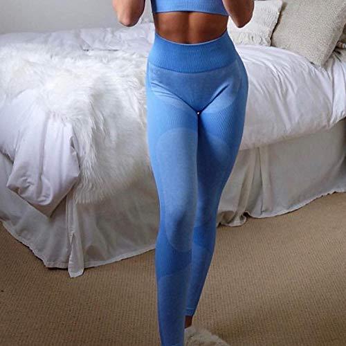 RRUI vrouwen sport panty's Panty Yoga sport fitness running broek heupen stretch spandex broek pak donkerblauw M