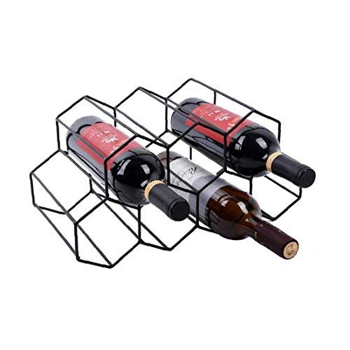 Yililay Bastidores de Vino, Vino Vino Rack de Almacenamiento de Soporte 7 Botella del sostenedor del Vino del Estante del Soporte del Soporte para Ahorrar Espacio Protector de la encimera Libre