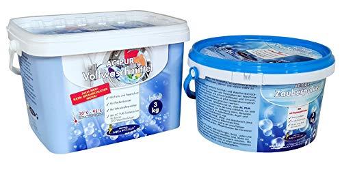 AC PUR Zauberpulver 3kg + Vollwaschmittel neu mit Anti-Grauschleier 3kg