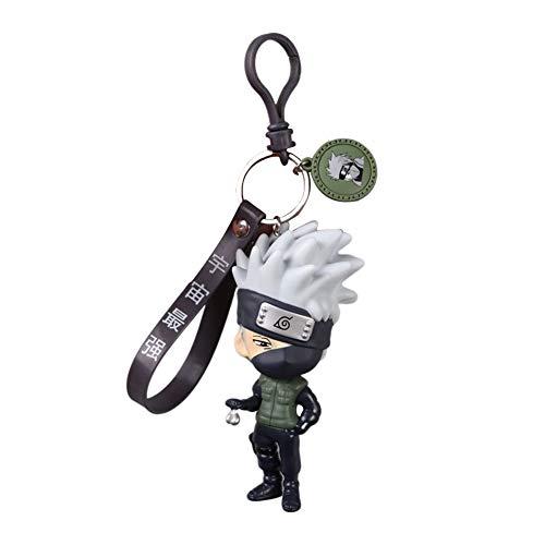 Preisvergleich Produktbild ALTcompluser Anime Naruto Schlüsselanhänger,  Lanyard Schlüsselbund mit Mini Figur PVC Anhänger(Hatake Kakashi - 12 cm)