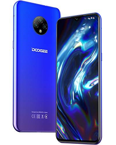 Moviles Libres, DOOGEE X95 Smartphone Libre 2020, 6.52 Pulgadas 19.5:9 HD+ Pantalla 4G Telefonos, 4350mAh, 13MP+2MP+2MP+5MP, Android 10.0 Smartphone Barato, 16GB ROM,128GB SD, Dual SIM Face ID, Azul