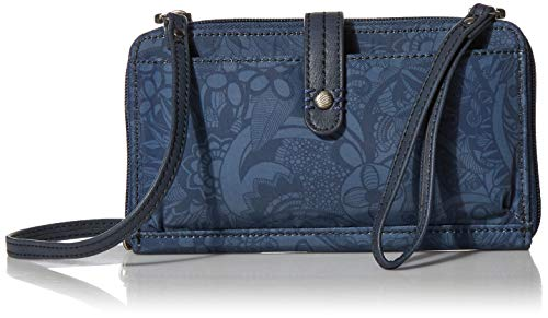 Sakroots womens 108780 Sakroots Eco-twill Large Smartphone Crossbody Blue Size: One size