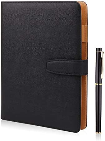 A5 Leather Notebook Refillable Loose Leaf Business Notebook Notepad Meeting Notebook Ruled Classic product image
