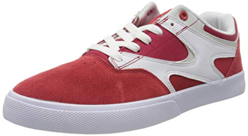 DC Shoes Kalis Vulc, Chaussures de Skateboard Homme, Bleu (Red/White Rdw), 45 EU