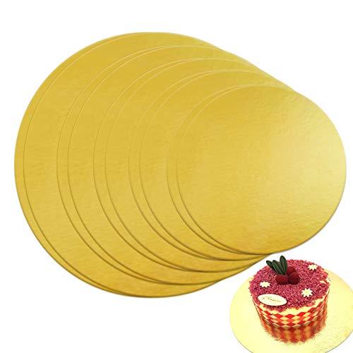 TheStriven Cake Board Redondo 10er Set Bandeja Redonda para Tartas Bases Carton para Tartas Redondas Base de Cartón para Tarta de Pisos 20 22 25 28 30cm Cake Board Bases Tarta de Boda Fondant Pastele
