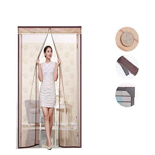 Puerta magnética a prueba de insectos de la cortina volante, mosquitera/cortina de puerta de encriptación silenciosa para trabajo pesado, puerta de la pantalla magnética de la cocina del dormitor
