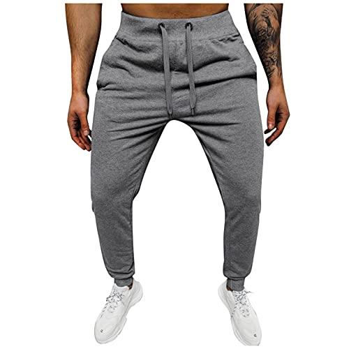 Pantalones de chándal para hombre, cálidos, de terciopelo, ajustados, informales, de un solo color, de forro polar, para deporte, fitness, gimnasio, jogging, gris oscuro, XXXL