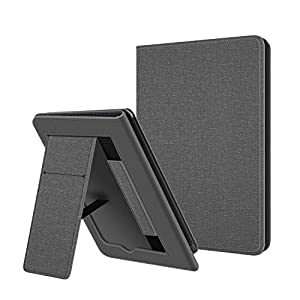 Estuche Plegable OLAIKE Solo para Kindle Paperwhite 10th Generation 2018 lanzado - con activación/suspensión automática, Funda de Cuero PU con Correa de Mano, Gris