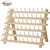 SAND MINE Wooden Thread Rack Sewing and Embroidery Thread Holder (60...