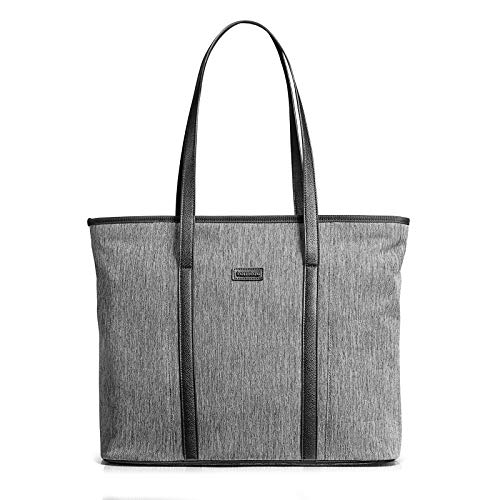 tomtoc Laptop Tote Bag for up to 16-inch MacBook Pro 2019, Lightweight Water Repellent Women Shoulder Bag Stylish Handbag for Business Work College Travel Party Shop, Gray