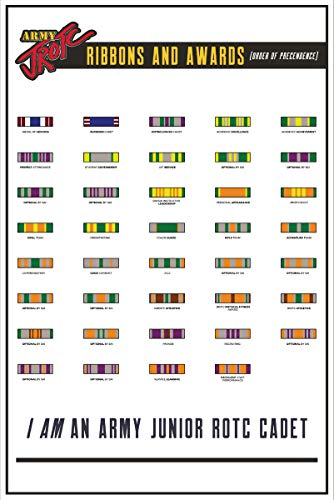 """The Supply Room Army JROTC Army Ribbons and Awards Unframed Gloss Poster (18"""" x 24"""")"""