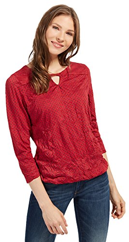 TOM TAILOR Damen crincle Blouse Shirt Bluse, Rot (Scooter Red 4543), 34 (Herstellergröße: XS)