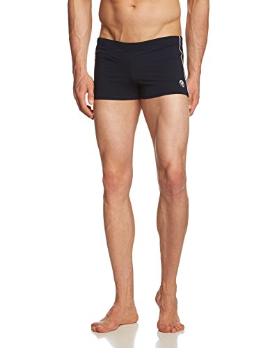 Marc O'Polo Body & Beach Herren BADE-Shorts Badeshorts, Schwarz (Blauschwarz 001), Large