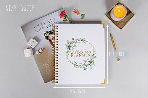 Product Image 8: Wedding Planner & Organizer – Floral Gold Edition – Diary Engagement Gift Book & Calendar