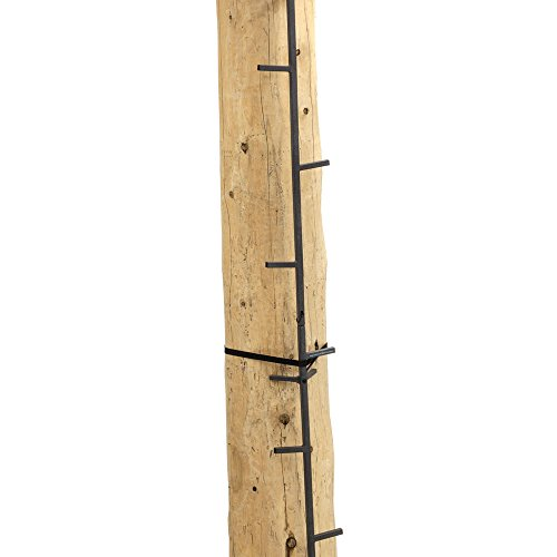 Rivers Edge RE730, Big Foot 20' Connected Stick, Tree Stand Climbing System, 5' Sections (4 Total), Alternate Step Design, Permanent Non-Slip Coating, Black