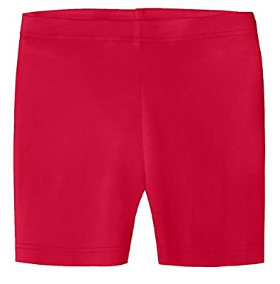 City Threads Baby Girls Underwear Bike Shorts in All Cotton Perfect for SPD and Sensitive Skin Sports Dance School Uniform, Candy Apple, 12/18m
