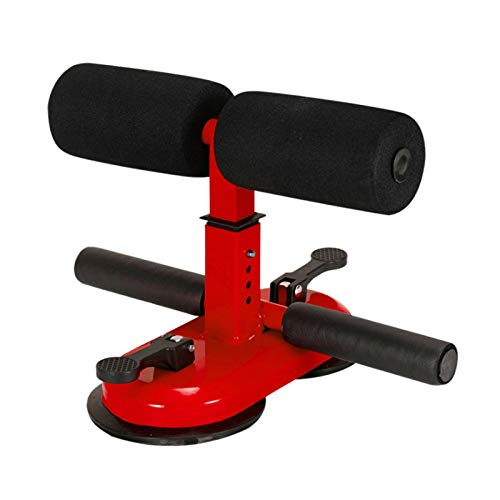 SDFDS Indoor-Fitness-Sit-up Puller, Bauchfitnessgeräte Startseite Boden Weight Loss Muskeltraining Fitnessgeräte Gym Push-Getriebe 118 (Color : Red)