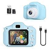 DreamHigh Cámara de Fotos Digital para Niños, 1080P 2.0' HD Selfie Video Cámara Infantil con Tarjeta TF 32 GB, Regalos para Niños de 3-10 Años (Azul)