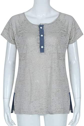ZEFOTIM Women Loose Casual Button Blouse T Shirt Tank Tops