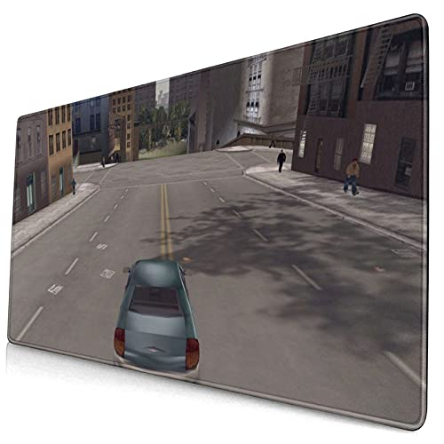 yeeasssyi Grand Theft Auto - Alfombrilla de escritorio con base de goma antideslizante, bordes cosidos antideshilachados, para oficina, hogar, accesorios de ordenador de 29.5 x 5.7 x 0.12 pulgadas