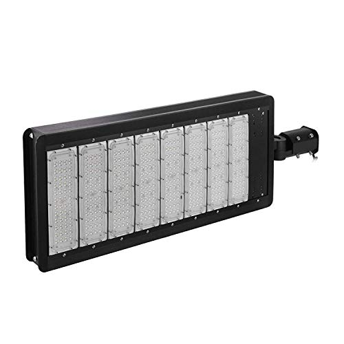 Anhon Luz de Poste de 400W LED Luz de Estacionamiento LED de 40000 Lúmenes Cabeza de Poste de Luz de Calle 50000H (400W)