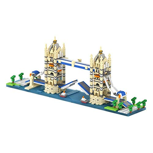 Nanoblock London Tower Bridge 1833pcs City Building World Famous Landmark A rchitects Blocks Nano Mini Blocks Toy Gifts