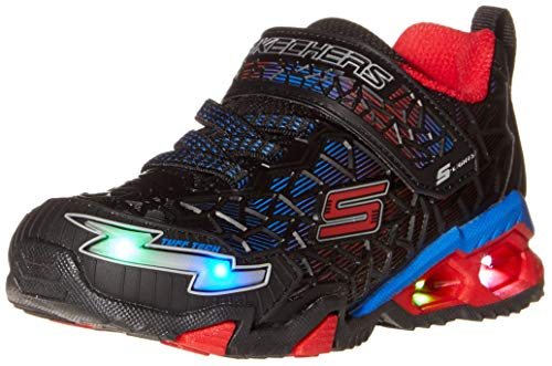Skechers Kids Boy's Sport Lighted - Hydro Lights Tuff Force (Little Kid/Big Kid) Blue/Black/Lime
