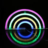 Sheci46 ネオンライト LED 形状 【虹】 電池式 ビールバー クリスマス パーティー 装飾 壁飾り 室内 パーティー おもちゃ 誕生日ギフト(ベースなし)