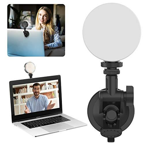VIJIM Videokonferenz Licht Laptop, Web-Konferenzen Licht Kit Videoleuchte mit 2000-mAh-Akku für MacBook, Computer, PC, Desktop für Live-Streaming,Videoanrufe, Online-Unterricht, Studieren, Spiel