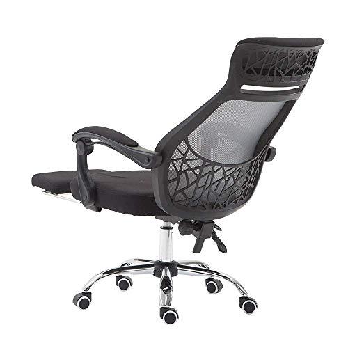 ch-AIR Bürodrehstuhl, Ergonomie Reclining Computer Chair Lifting Rotation Drehstuhl mit Fußstütze Chefsessel Nennbelastbarkeit: 550lbs,Darkgray